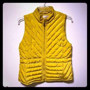 Ann Taylor Loft Zip-up Puffer Vest Yellow